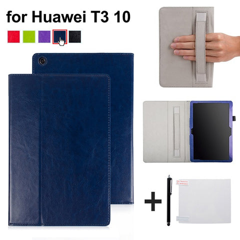 Image of cover case for Huawei MediaPad T3 10 AGS-L09 AGS-L03 9.6 inch Cover Funda Tablet PU leather case for Honor Play Pad 2 9.6