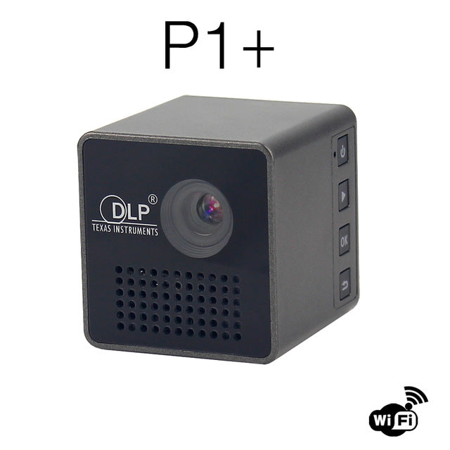 DLP LED Mini Phone HD Portable Projector P1plus Support TF card and Miracast Airplay for Iphone Ipad phone