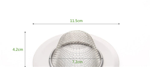 Image of Stainless-Steel Kitchen Sink Strainer  Perfect for Kitchen Sinks filter - 2pcs