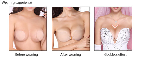 Sexy Invisible Bra PushUp  Silicone Self Adhesive Plus Size Seamless Auto adhesivo