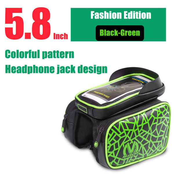 SAVA Waterproof Cycling Front Bag Touch Screen Bike Bag Tube Frame Pannier Double 3 Sizes Supply Pouch Phone Bicycle Bag