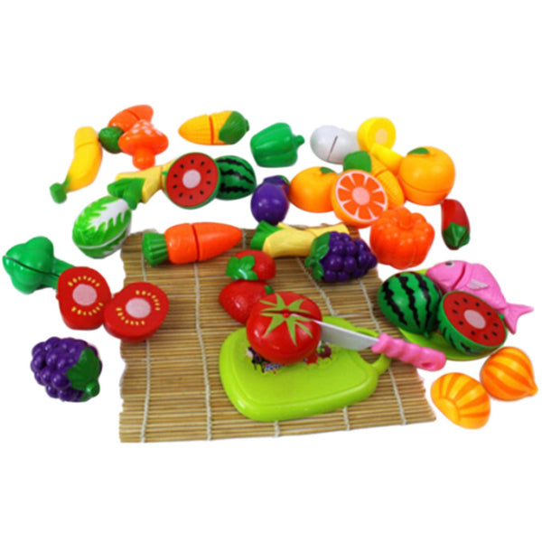 Plastic Play Toy Fruit and Vegetables Cutting  24Pcs/Set