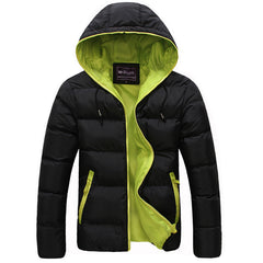 Winter Men Jacket 2017 New Brand High Quality Candy Color Warmth Mens Jackets And Coats Thick Parka Men Outwear XXXL