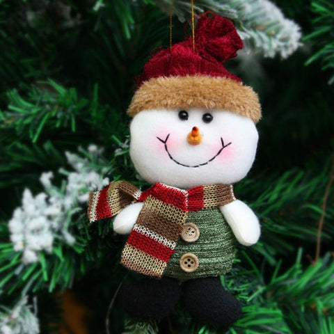 Image of Santa Claus Snow Man Reindeer Doll Christmas Decoration, Tree Hanging Ornaments Pendant