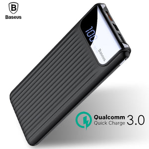 Quick Charge 3.0 Power Bank 10000mAh Dual USB LCD Powerbank External Battery Charger For Mobile Phones Tablets Poverbank