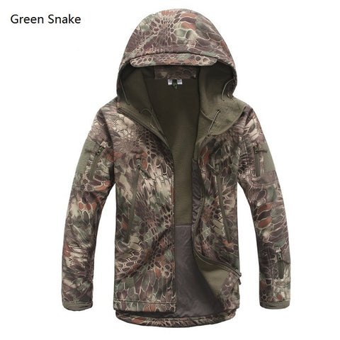 Image of Lurker Shark Skin Softshell V4 Military Tactical Jacket Men Waterproof Windproof Warm Coat Camouflage Hooded Camo Army Clothing