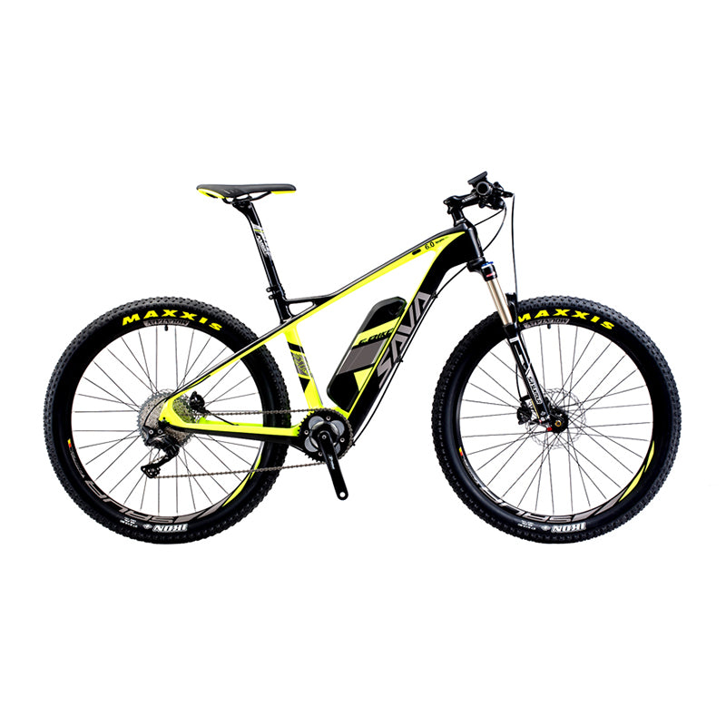 "SAVA Electric Bicycle Carbon Fiber e-bike 27.5"" Mountain MTB Pedelec Bike w/Shimano M8000 XT 11S and 14Ah SAMSUNG Li-ion Battery"