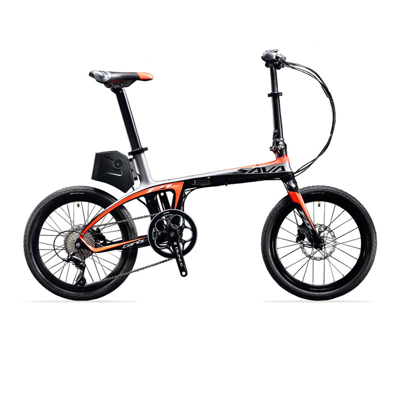"SAVA E6 Electric Bicycle Carbon Fiber 20"" Folding E-bike 36V/250W Pedelec Foldable SHIMANO 9S Bicycle with 5.8Ah SAMSUNG Battery"
