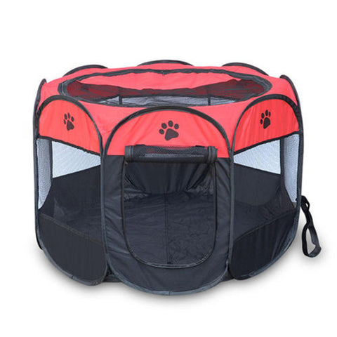 Image of Hot Fashion Pet Folding Cage Portable Oxford Dog Playpen Pet Fence Kennel Puppy Sleeping Tent Pet Supplies Free Drop Shipping