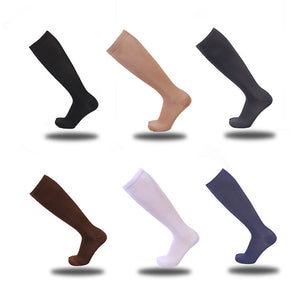 3 Pairs Compression Socks Knee High Stocking Nylon Sports Athletic Running Socks