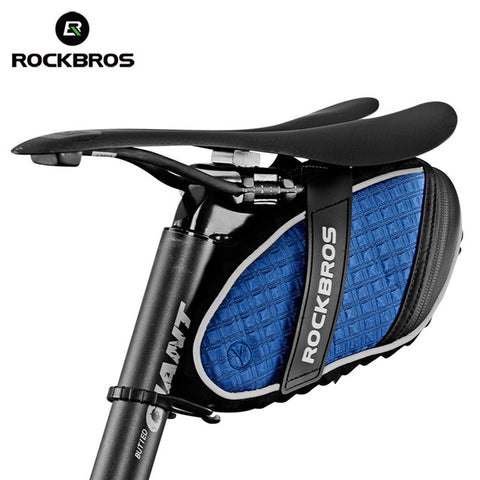 Image of ROCKBROS Bicycle Bag 3D Shell Saddle Bag Reflective Bike Bag Rainproof Shockproof Cycling Rear Seatpost Bag MTB Bike Accessories