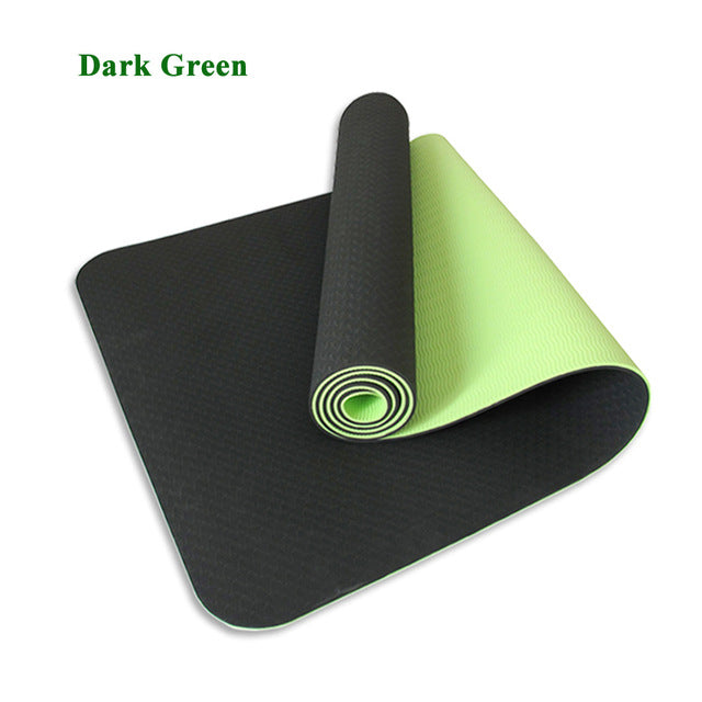 Non-slip  Sport Mats  with Bag & Strap - For Fitness Pilates  Gym Exercise Camping Picnic