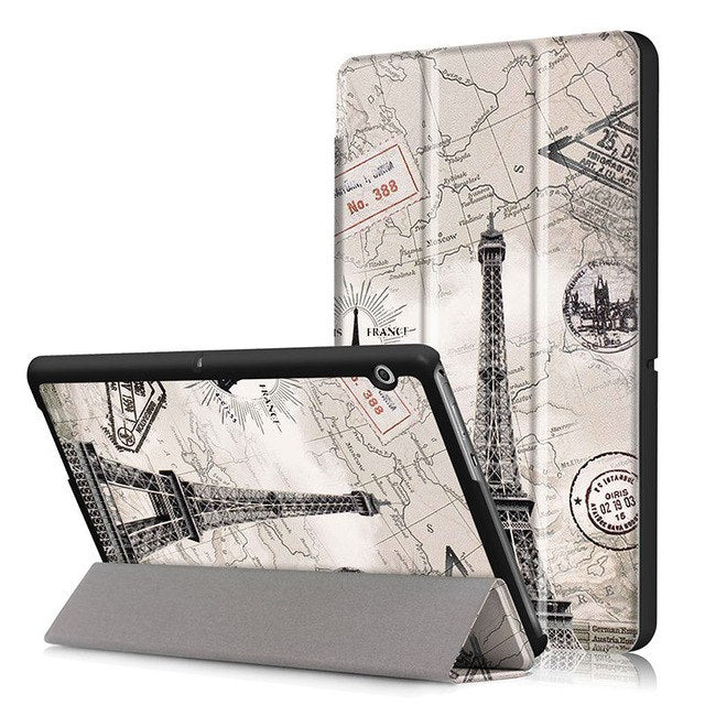 "Case For Huawei MediaPad T3 10 AGS-W09 AGS-L09 AGS-L03 9.6"" Cover Funda Tablet for Honor Play Pad 2 9.6 Slim Flip Case+Film+Pen"