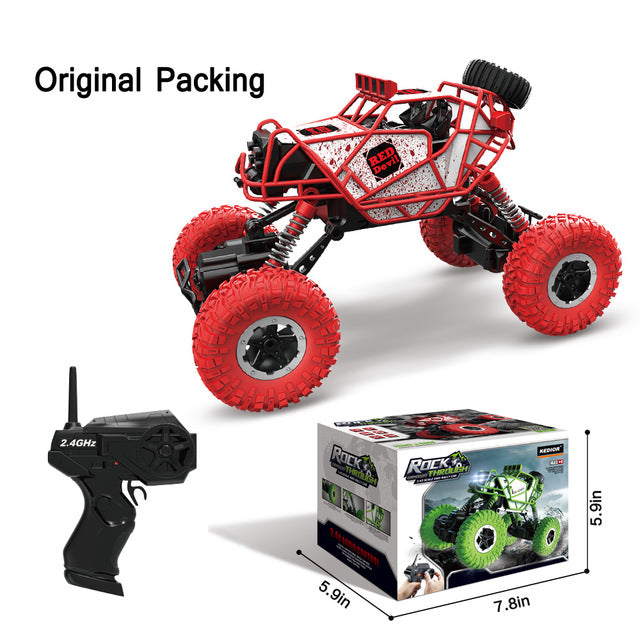 RC Car 2.4G 4CH 4WD Rock Crawlers Climbing Car 4x4 Driving Car Double Motors Bigfoot Cars Remote Control Model Off-Road Vehicle