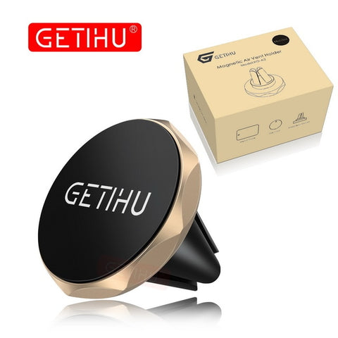 Image of GETIHU Car Phone Holder Magnetic Air Vent Mount Mobile Smartphone Stand Magnet Support Cell Cellphone Telephone Desk in Car GPS