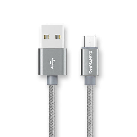 Image of Micro USB Cable,Suntaiho 5V2.4A Nylon Braided Fast Charging Mobile Phone USB Charger Cable for Samsung/xiaomi/LG/Huawei/Meizu