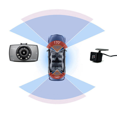 Image of Car DVR Camera Full HD 1080P 140 Degree Wide Angle Dual Lens Night Vision Parking Monitor
