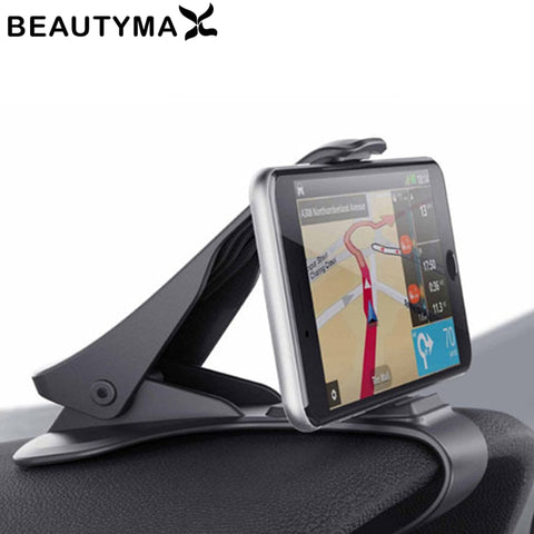 Image of 6.5inch Dashboard Car Phone Holder Easy Clip Mount Stand Car Phone Holder GPS Display Bracket Classic Black Car Holder Support