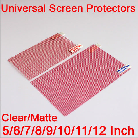 3pcs Clear/Matte LCD Screen Protector Cover 5/6/7/8/9/10/11/12 inch mobile Smart phone Tablet GPS MP4 Universal Protective Film