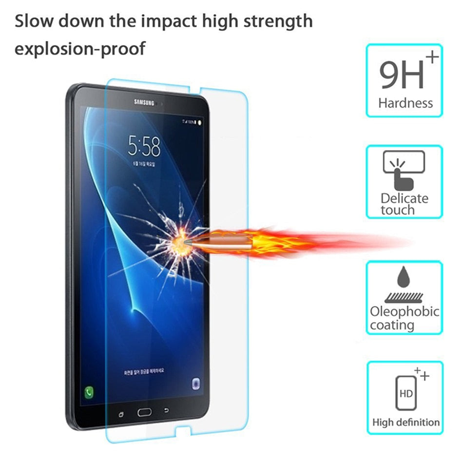 CHENCE Tempered Glass for Samsung Galaxy Tab A 10.1 2016 A6 T580 T585 10.1 inch Tablet PC LCD Screen Protector Film