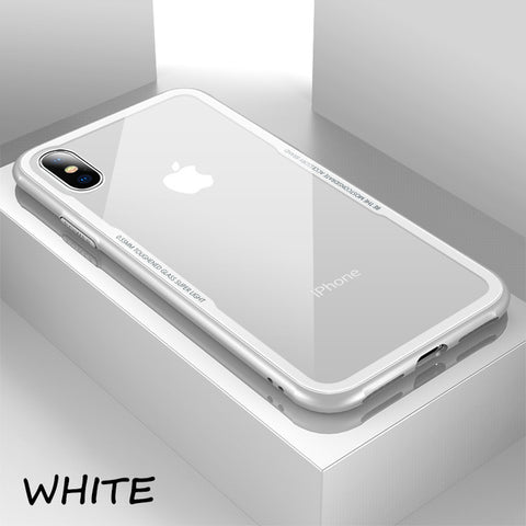 Image of Funda vidrio templado transparente cubierta flexible  para iPhone X 10 iPhone X. PLUS, 8,7,6S,6 TPU silicona