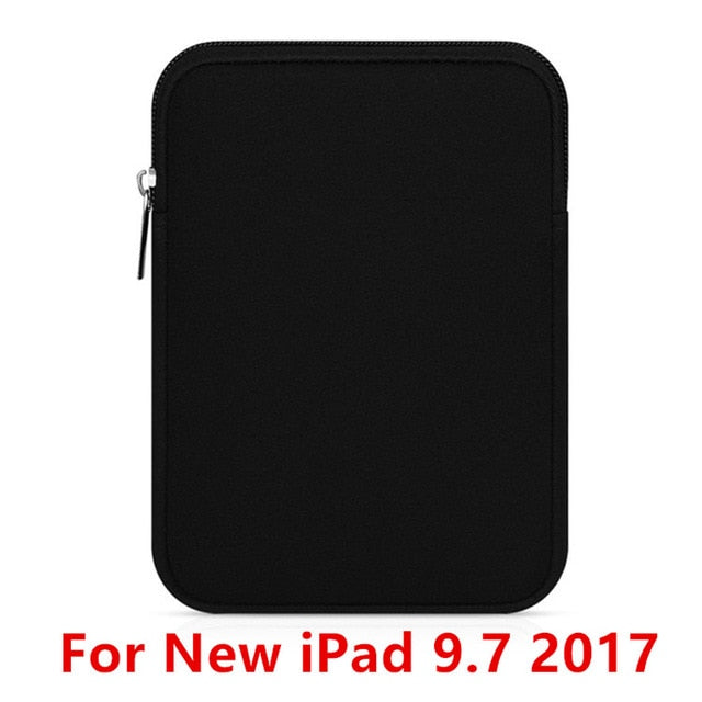 Tablet Liner Sleeve Pouch Bag for New iPad 9.7 inch 2017 Soft Tablet Cover Case for iPad Air 2/1 Pro 9.7 Funda Bag for iPad Mini