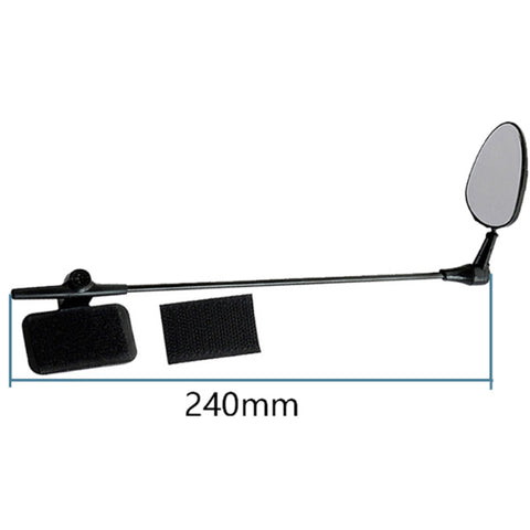 Image of Espejo Retrovisor para Casco de Ciclista  espejo lateral multi ángulo ajustable Adjustable Bicycle Cycling Rearview Mirror Glass Helmet Rearview Mirror 20% Descuento