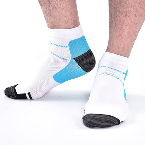 1pair New  Unisex Compression Sock Anti-Fatigue Plantar Fasciitis  Heel Spurs PainSoHk For Men Women