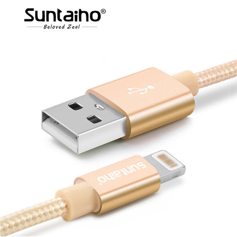 Image of Suntaiho For iPhone X 7 8 6 Plus 6S 5 USB Charger Nylon Braided Cable For Lighting Fast Charging Data Sync Mobile Phone Cable