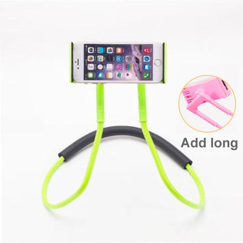 Image of Lazy Bracket Universal 360 Degree Rotation Flexible Phone Selfie Holder Snake-like Neck Bed Mount Anti-skid For iPhone Android