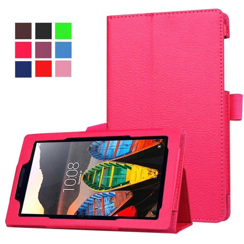 Image of 2016 Newest Litchi Grain Stand PU Leather Case For Lenovo tab 3 7.0 710 essential tab3 710F Tablet Case Flip Cover +film+stylus