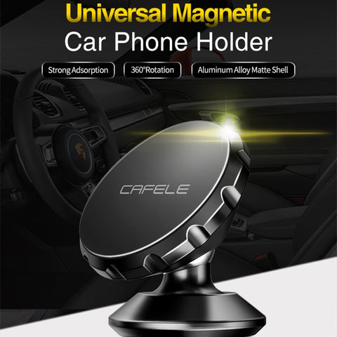 Image of CAFELE Universal Magnetic Car Phone Holder 360 Rotation GPS Mobile Phone Car Holder Stand For iphone X Huawei P20 Pro Samsung S9