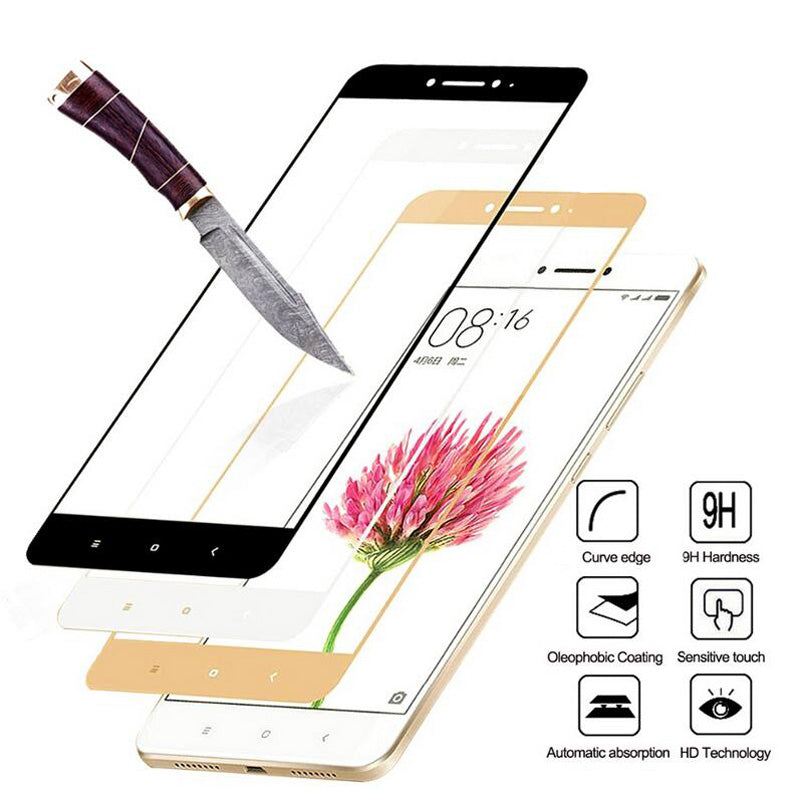 Full Cover Tempered Glass For Xiaomi Redmi 4X 5 Plus 4A 5A Redmi Note 5 Pro 4X Note 4 5A Prime Screen Protector Toughened Film