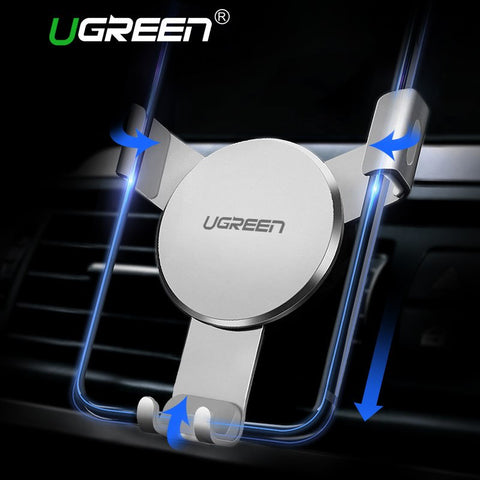 Image of Ugreen Car Holder for iPhone 8 X 6 Gravity Reaction Air Vent Mount Phone Holder Cell Phone Holder Stand for Samsung S9 S8 Xiaomi