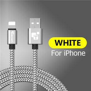 Tiegem USB Charger Cable for iPhone 5 5s 6 6s X iPad SE for iPad Air Mini  Wire 1 2 m Car Fast Charging Cord Mobile Phone Cables