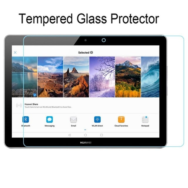 "Screen Protector Tempered Glass for huawei mediapad t3 10 AGS-L09 AGS-L03 9.6"" Tablet Screen Glass cover film for huawei t3 10"