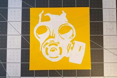 Gas Mask Stencil by Montactical