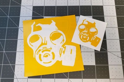 Gas Mask Stencil for Duracoat and Cerakote