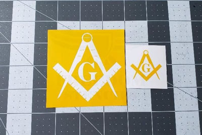 Freemasons Symbol Stencil for Cerakote and DuraCoat