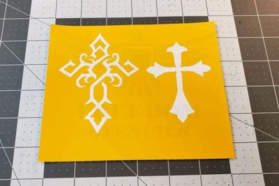 Crusader Cross Stencils for DuraCoat and Cerakote