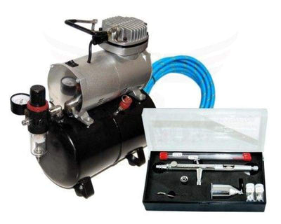 Master Airbrush Sb88 Pro Set With Tc-20 T Air Compressor Tank (Packaging May Vary)