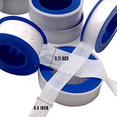 Teflon Tape Plumbers - 12 Pack Thread Ptfe Seal Pipe Sealant For Plumbing