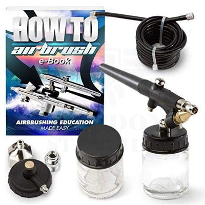 Pointzero Single-Action 22Cc Siphon-Feed Airbrush Set - 0.8Mm Nozzle