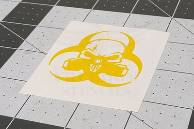 Biohazard Punisher Stencil by Montactical