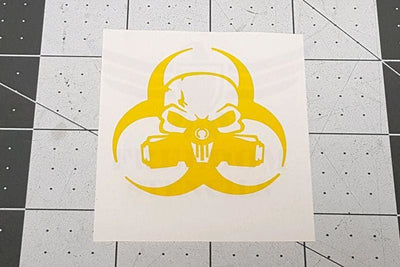 Biohazard Punisher Stencil for DuraCoat and Cerakote