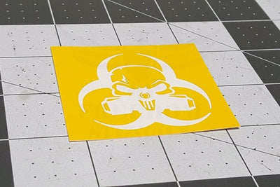 Biohazard Punisher Stencil from Freedom Stencils