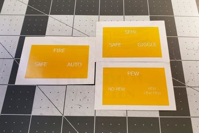 AR Lower Reciever Selector Etching Stencils Mask