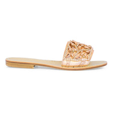 Alessia Slide Sandal (rose gold)