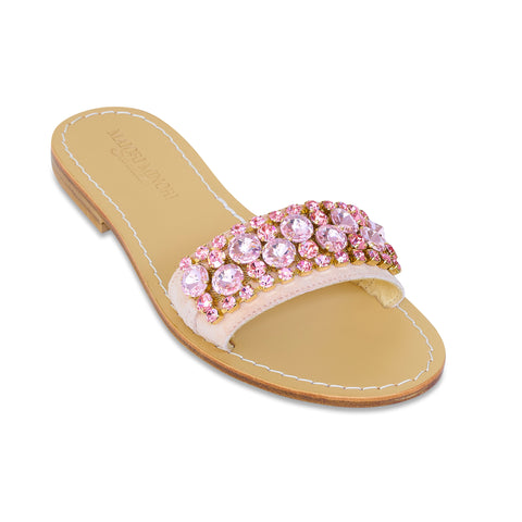 Natasha Slide Sandal (rose gold)