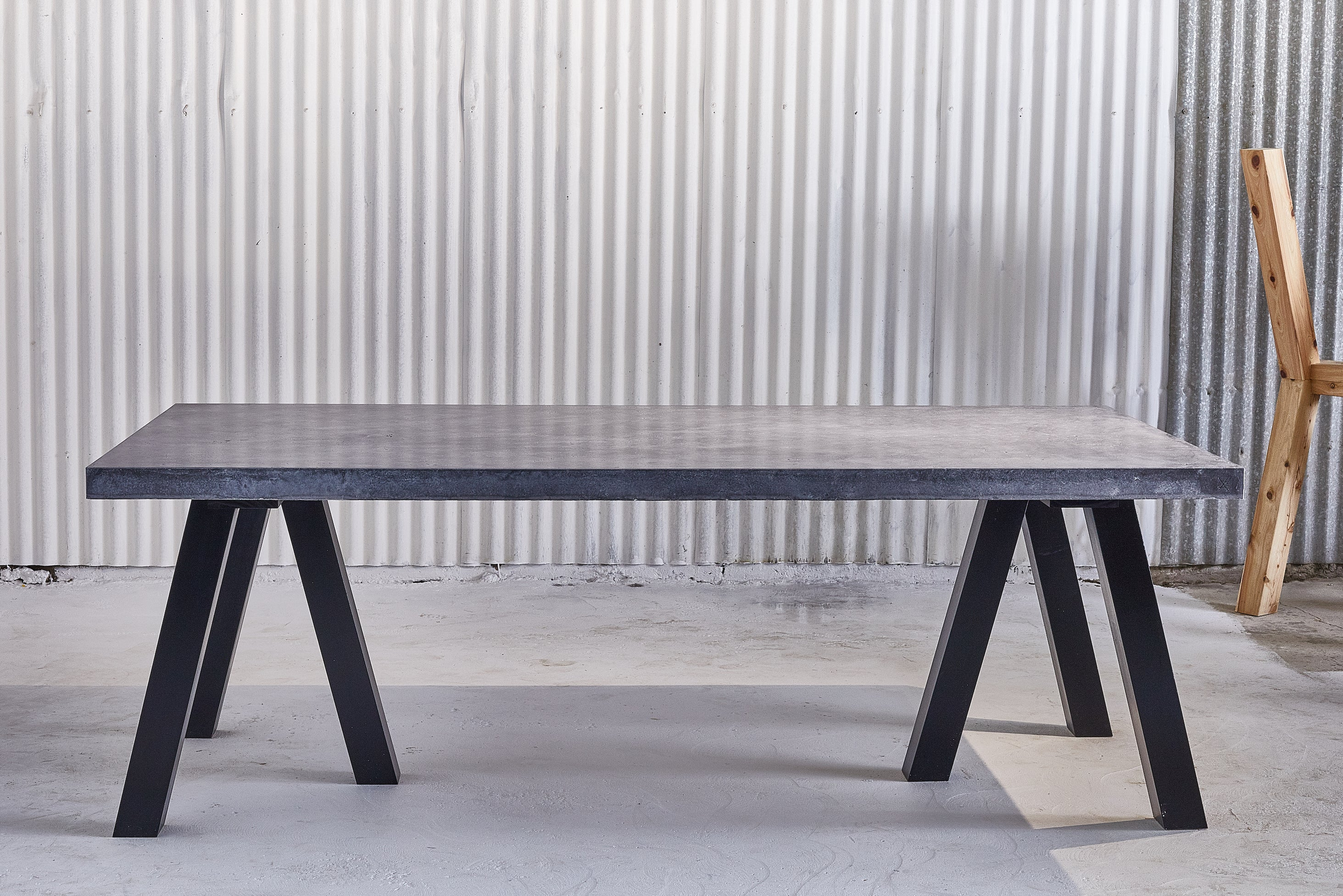 Vallee Dining - BOHO BLACK Concrete Dining Table